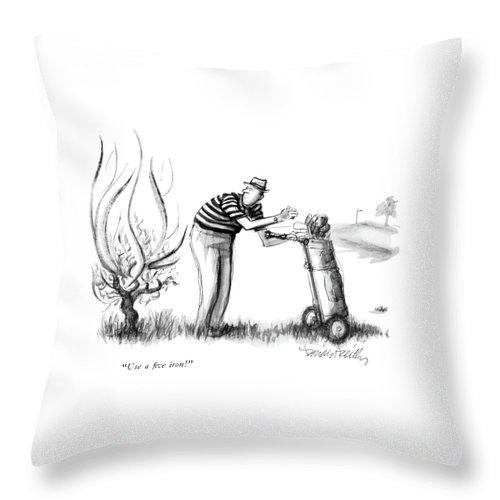 Use A Five Iron! Throw Pillow