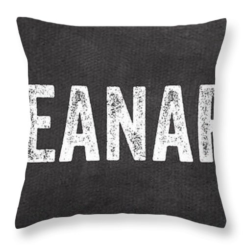 Napkin Throw Pillow featuring the mixed media Use A Napkin by Linda Woods