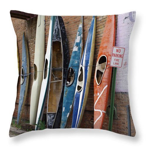 Colorado Photographs Throw Pillow featuring the photograph Used by Gary Benson
