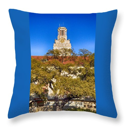 Iphone Case Of Ut Austin Throw Pillow featuring the photograph Ut Tower by Kristina Deane