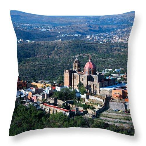 Valenciana Throw Pillow featuring the photograph Valenciana, Mexico by John Shaw