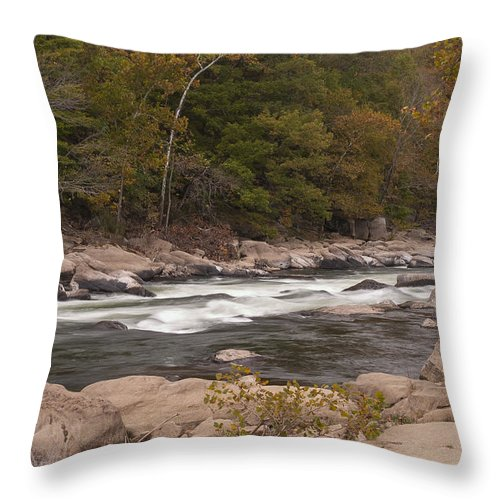 Rapids Throw Pillow featuring the photograph Valley Falls Scene 5 by John Brueske