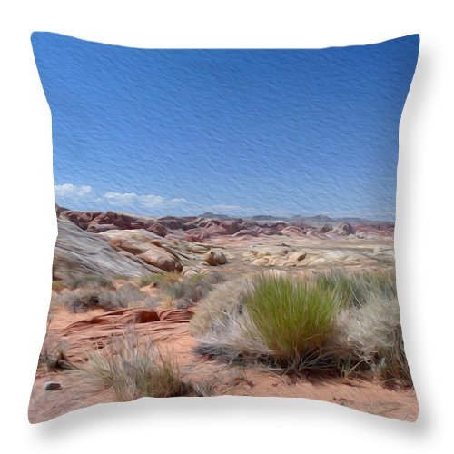 Valley Of Fire State Park Throw Pillow featuring the photograph Valley Of Fire 1 by Tracy Winter