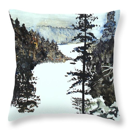 Snow Throw Pillow featuring the painting Valley Snow by Shelli West