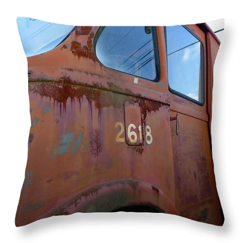 International Throw Pillow featuring the photograph Van 2618 by Richard Reeve