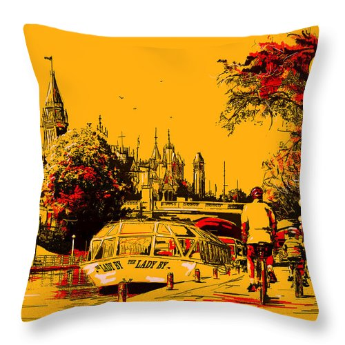 Vancouver Throw Pillow featuring the painting Vancouver Art 002 by Catf
