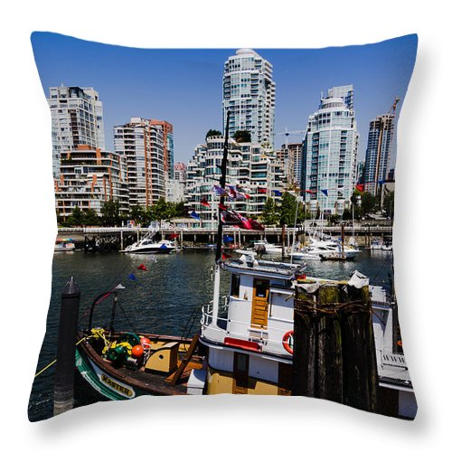 Vancouver Throw Pillow featuring the photograph Vancouver Views by Kathy Bassett