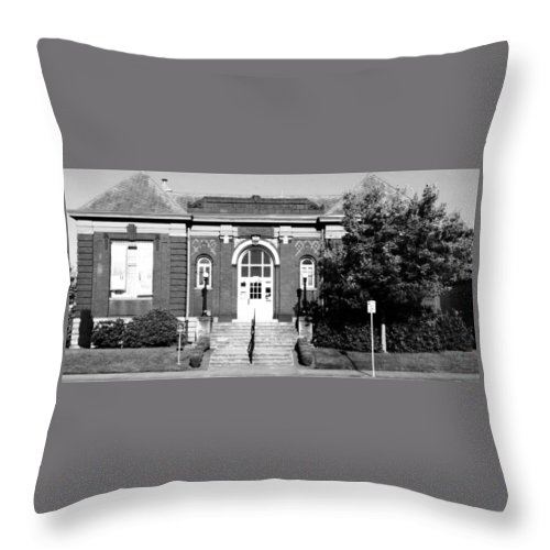 Museum Throw Pillow featuring the photograph Vancouver's First Library Turned Museum by Melissa Coffield