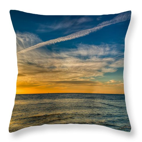 British Throw Pillow featuring the photograph Vapor Trail by Adrian Evans