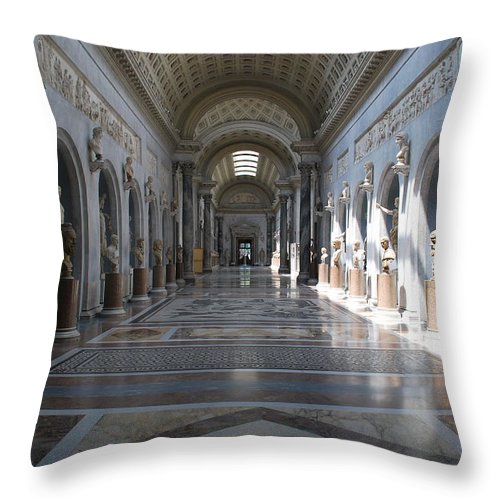 Vatican Throw Pillow featuring the photograph Vatican Museum by Richard Booth