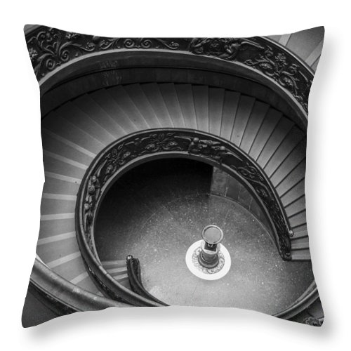 3scape Photos Throw Pillow featuring the photograph Vatican Stairs by Adam Romanowicz