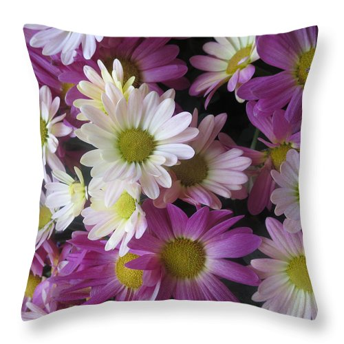 Vegas Throw Pillow featuring the photograph Vegas Butterfly Garden Flowers Colorful Romantic Interior Decorations by Navin Joshi