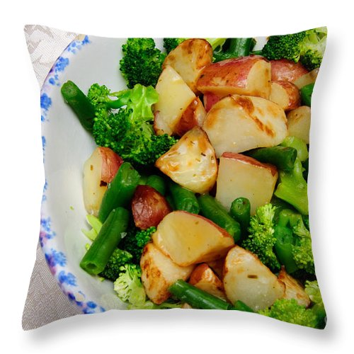 Fine Art Food Throw Pillow featuring the photograph Veggie Medley by Andee Design