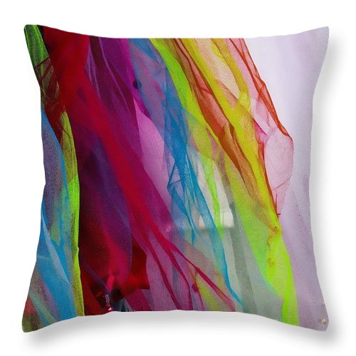 Veils Throw Pillow featuring the photograph Veiled Color by Rick Lawler