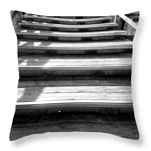 Bridge Throw Pillow featuring the photograph Venetian Bridge by Valentino Visentini