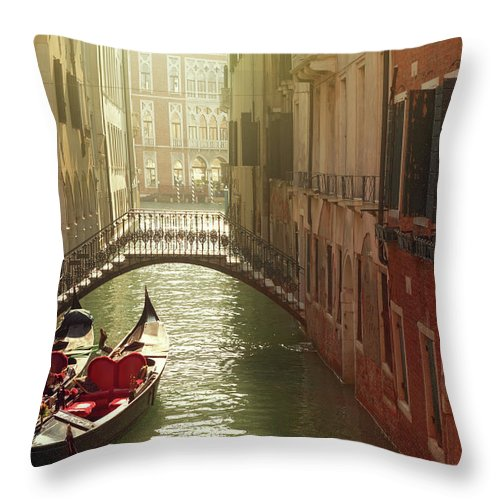 Veneto Throw Pillow featuring the photograph Venetian Canal by Mammuth