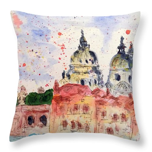 Throw Pillow featuring the painting Venice Iv by Nicolas Segoviano