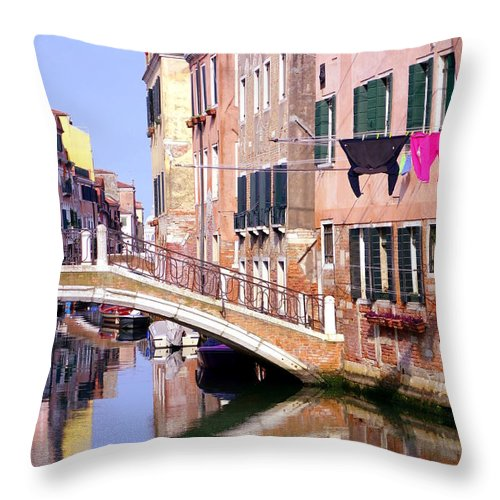 Ancient Throw Pillow featuring the photograph Venice Living by Valentino Visentini