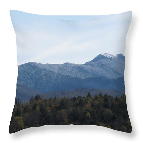 Mountains Throw Pillow featuring the photograph Vermont Mountains by Barbara McDevitt