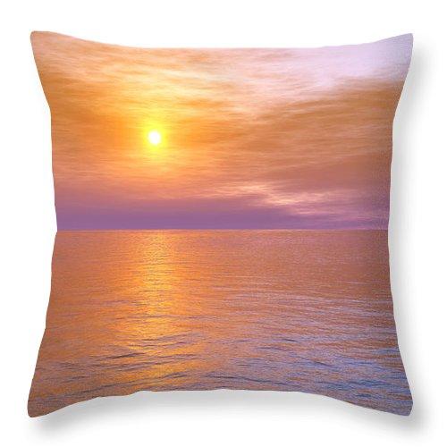 Ocean Throw Pillow featuring the digital art Verona Beach by Mark Greenberg