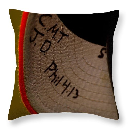 2010 Throw Pillow featuring the photograph Verse In The Brim by Darrell Clakley