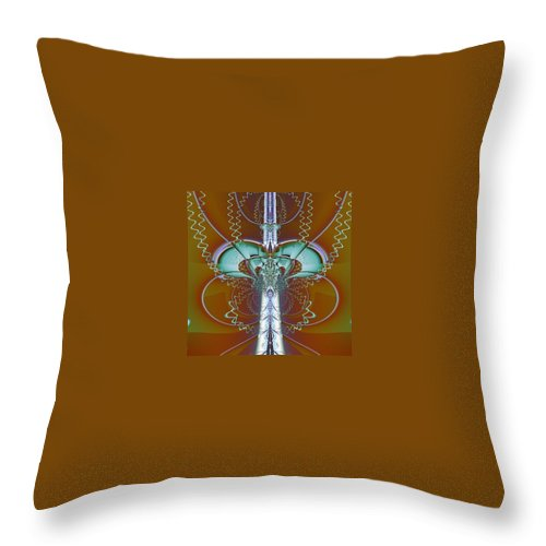 Digital Art Throw Pillow featuring the digital art Vertebrae I by Dragica Micki Fortuna