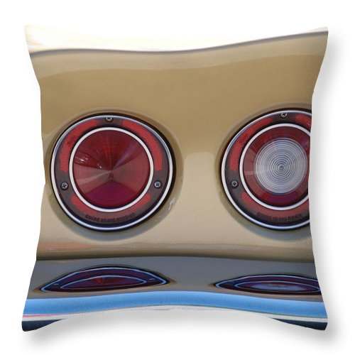 Corvette Throw Pillow featuring the photograph Vette Lights by Rob Hans