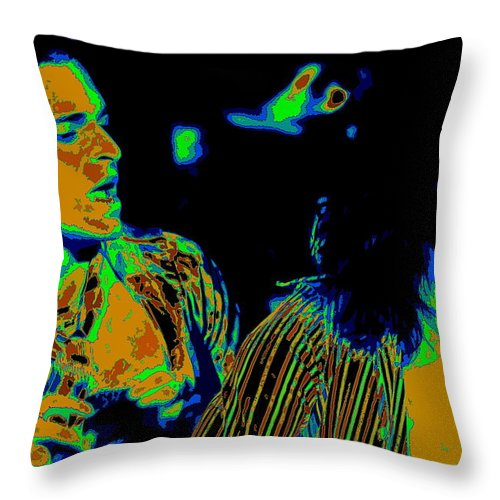 Van Halen Throw Pillow featuring the photograph Vh #2 In Cosmicolors by Ben Upham