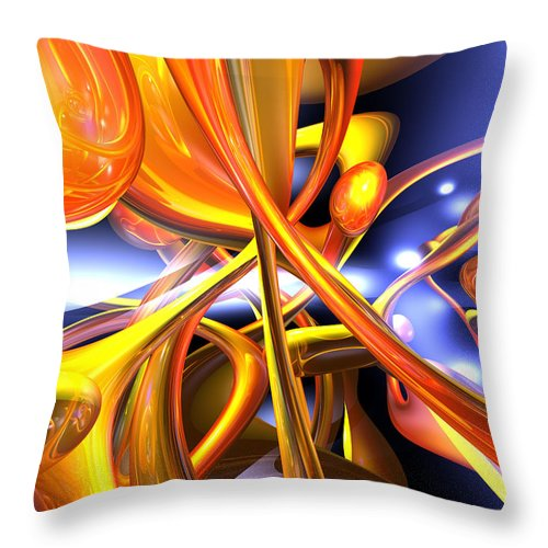3d Throw Pillow featuring the digital art Vibrant Love Abstract by Alexander Butler