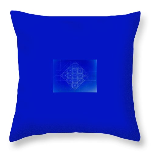 Sine Throw Pillow featuring the drawing Vibrating Space Time by Jason Padgett