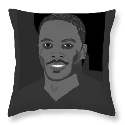 Portrait Throw Pillow featuring the digital art Vicktor by Pharris Art