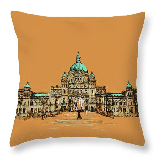 Vancouver Throw Pillow featuring the painting Victoria Art 005 by Catf