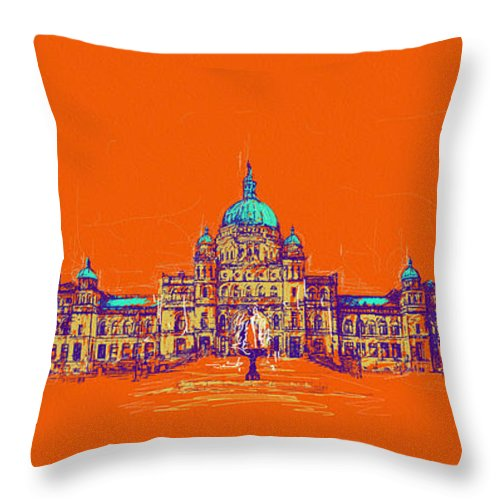 Vancouver Throw Pillow featuring the painting Victoria Art 006 by Catf
