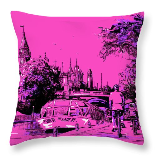 Vancouver Throw Pillow featuring the painting Victoria Art 012 by Catf