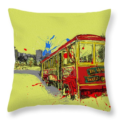 Vancouver Throw Pillow featuring the painting Victoria Art 014 by Catf