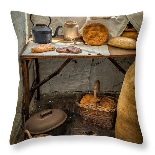 British Throw Pillow featuring the photograph Victorian Bakers by Adrian Evans