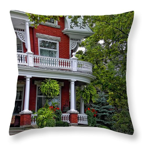 Ictorian Throw Pillow featuring the photograph Victorian Classic by Steve Harrington