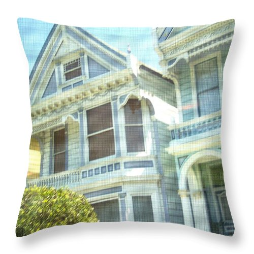 Victorians Throw Pillow featuring the photograph Victorian Cloth by Pharris Art