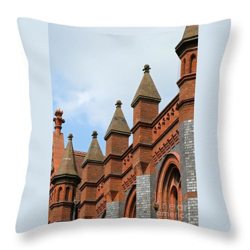 Victorian Throw Pillow featuring the photograph Victorian Orange by Ann Horn