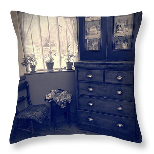 Net Throw Pillow featuring the photograph Victorian Room by Amanda Elwell