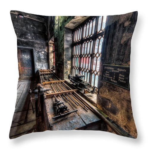 Architecture Throw Pillow featuring the photograph Victorian Workshops by Adrian Evans