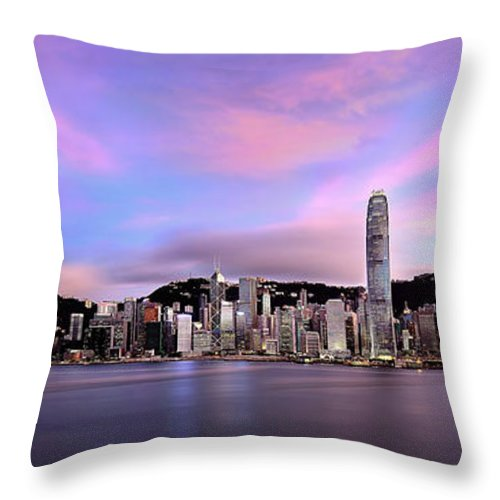 Tranquility Throw Pillow featuring the photograph Victoric Harbour, Hong Kong, 2013 by Joe Chen Photography
