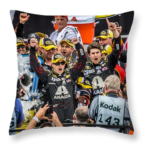 Jeff Gordon Throw Pillow featuring the photograph Victory by Alex Cianfarani