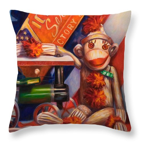 4th Of July Throw Pillow featuring the painting Victory by Shannon Grissom
