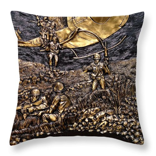 Vietnam Throw Pillow featuring the photograph Vietnam 1961-1975 by Ed Weidman