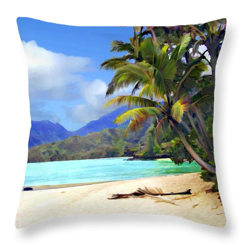 Hawaii Throw Pillow featuring the photograph View From Waicocos by Kurt Van Wagner
