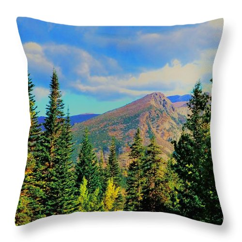 Blue Throw Pillow featuring the photograph View by Kathleen Struckle