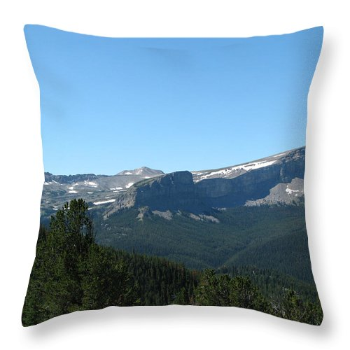Flint Mountain Throw Pillow featuring the photograph View Of Flint Mountain by Pam Little