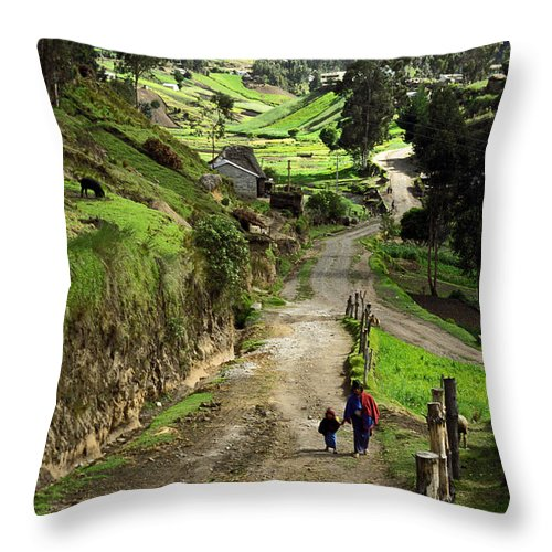 Ecuador Throw Pillow featuring the photograph View Of Lupaxi by Kathy McClure