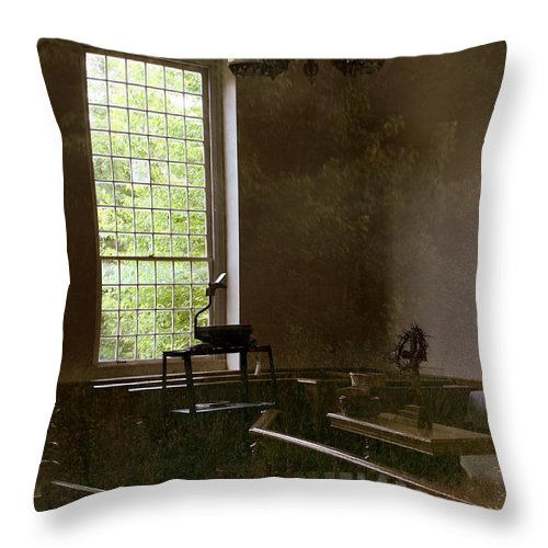 Landmark Throw Pillow featuring the photograph View Of The Past by Marcia Lee Jones